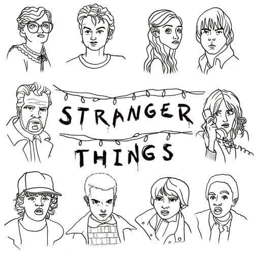 Free Printable Stranger Things coloring page