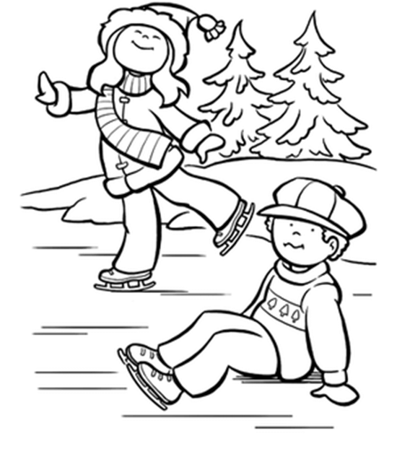Free Snow Coloring Pages