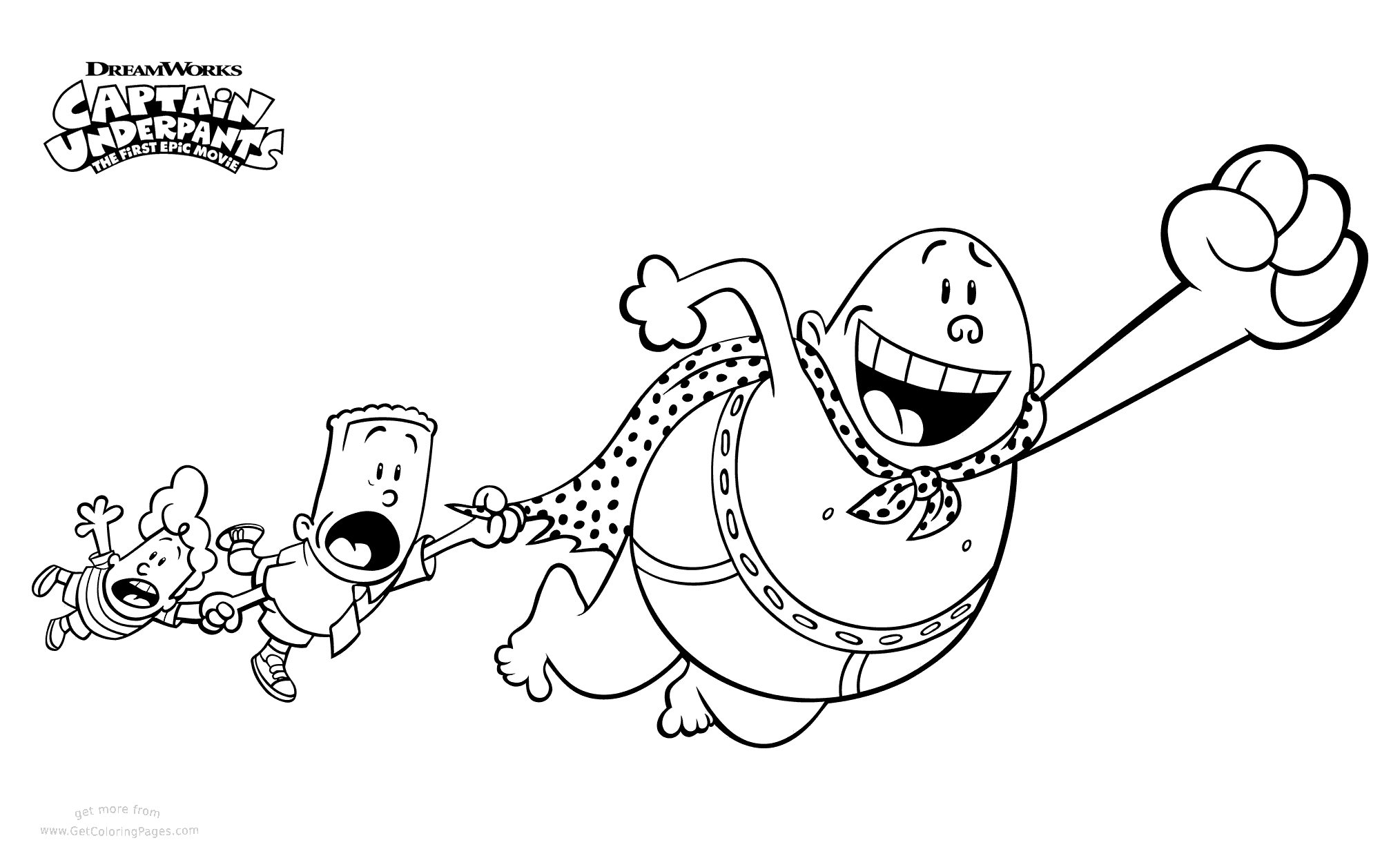 Free printable Captain Underpants Movie Coloring Pages