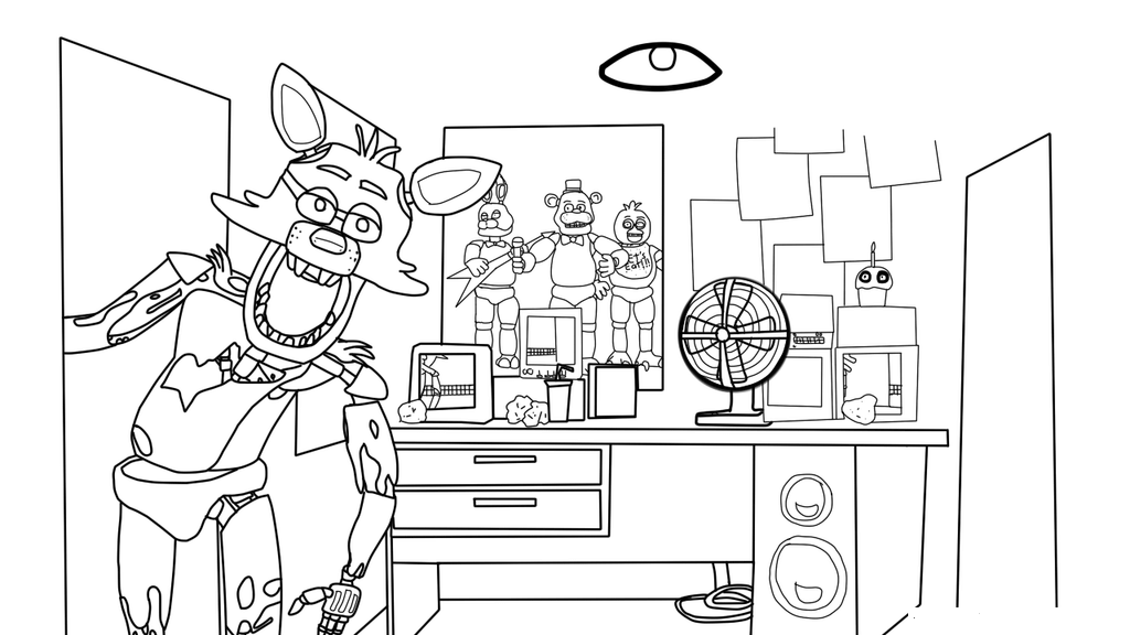 Funtime Foxy FNAF Coloring Pages