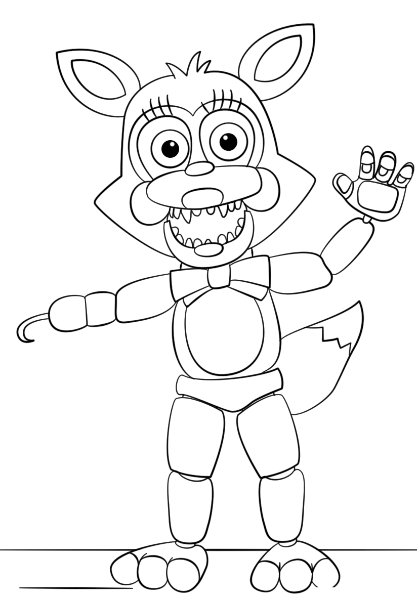 Funtime Foxy From Five Nights At Freddys Coloring pages