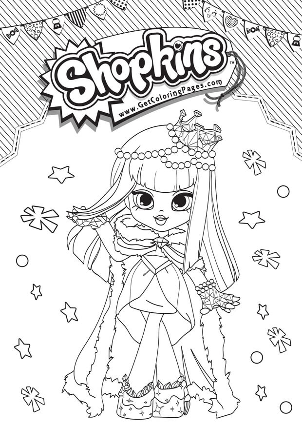 Gemma Stone Shopkins Shoppies coloring pages