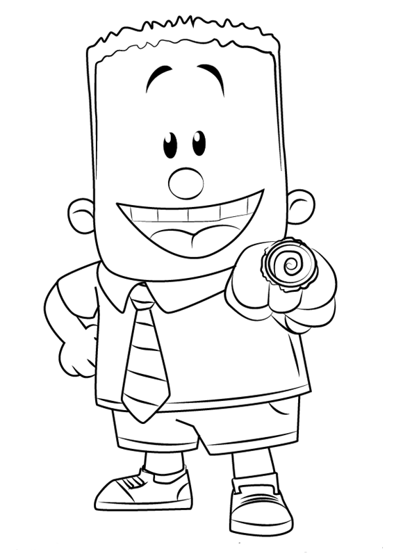 George Beard from Captain Underpants Coloring Page