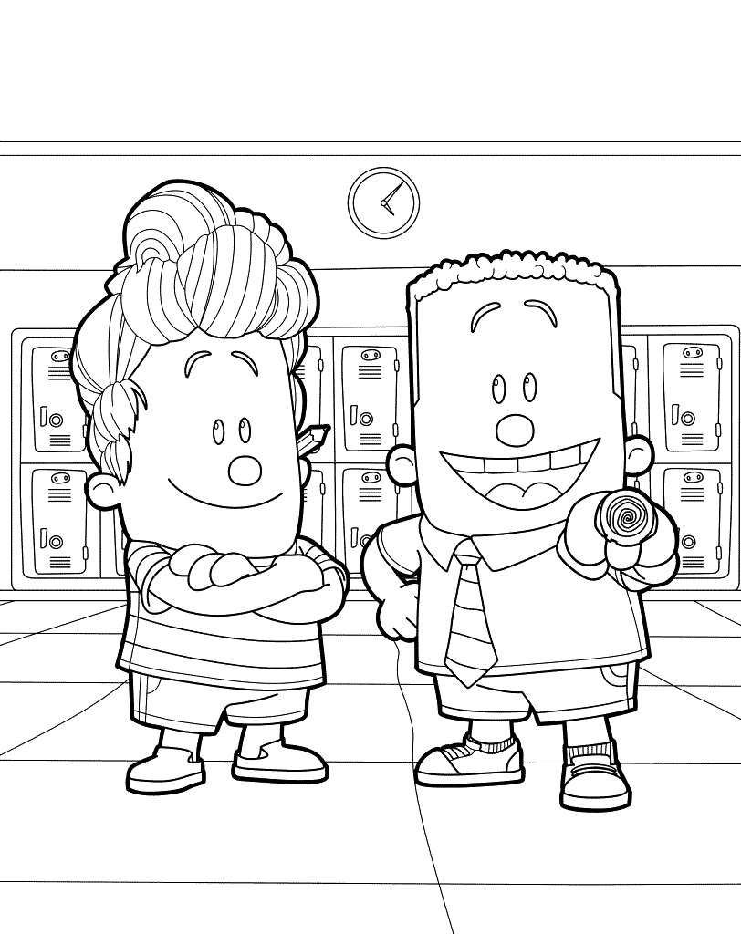 George and Harold from Captain Underpants Coloring Pages