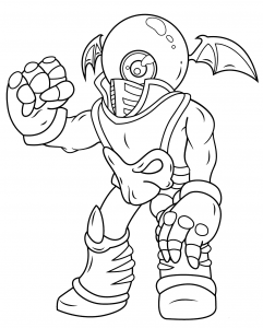 Giants Eye Brawl Skylanders Coloring Pages