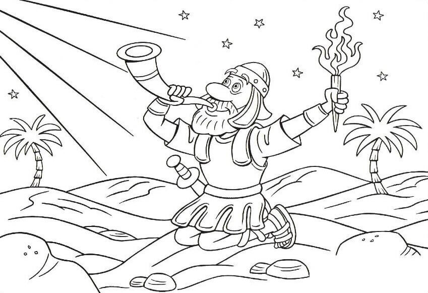 Gideon Sunday School Coloring Pages