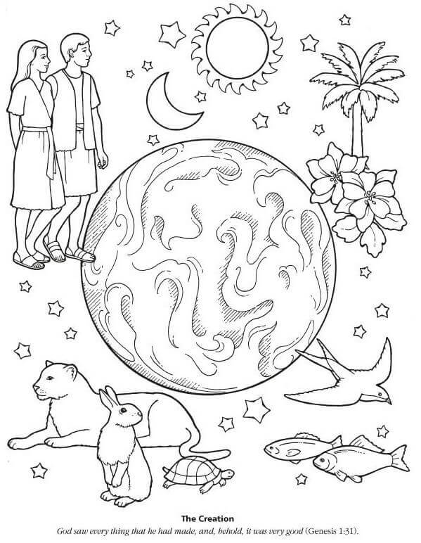 It's just a graphic of Gargantuan God's Creation Coloring Pages