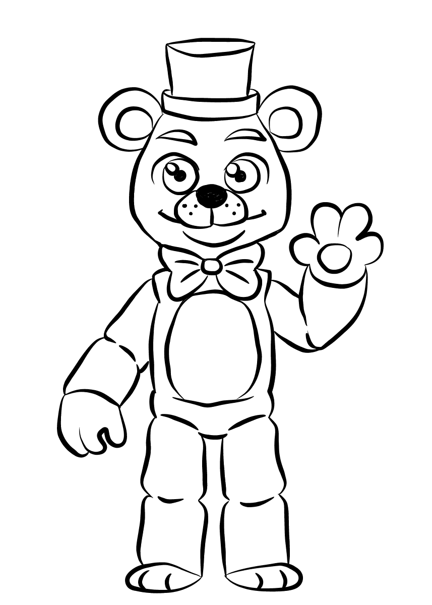 Helpy FNAF Coloring Pages