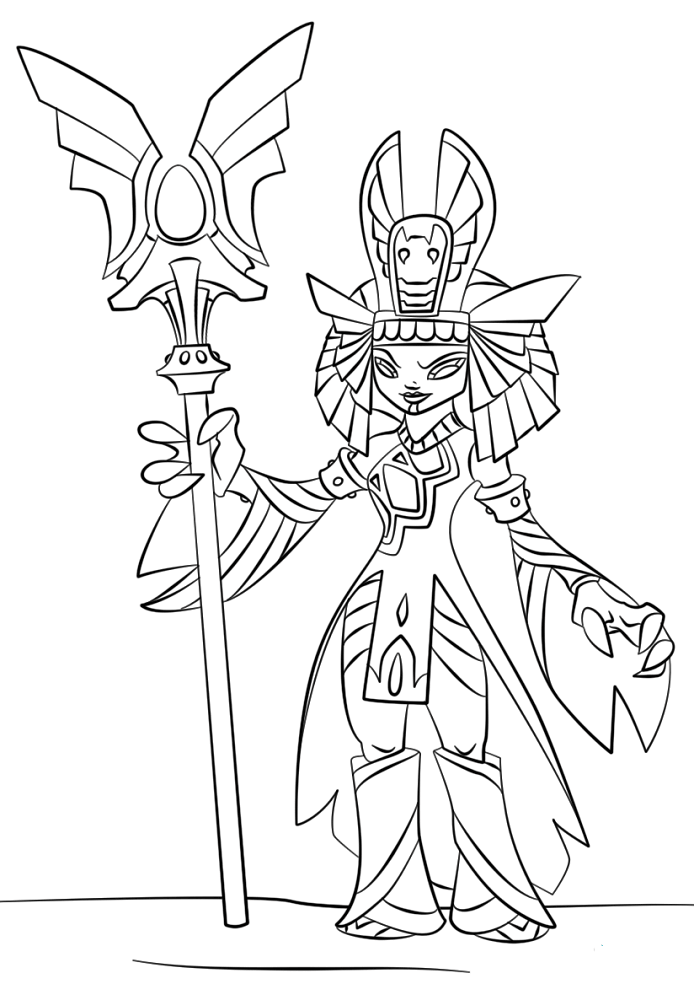 Golden Queen Skylanders Coloring Pages