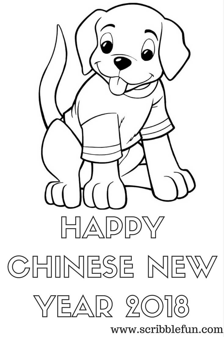 free printable chinese new year 2018 coloring pages chinese new year expressions - Happy Chinese New Year In Mandarin