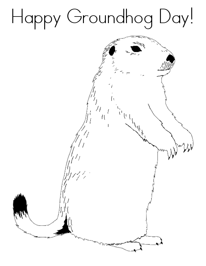 Happy Groundhog Day Coloring Pages printable free
