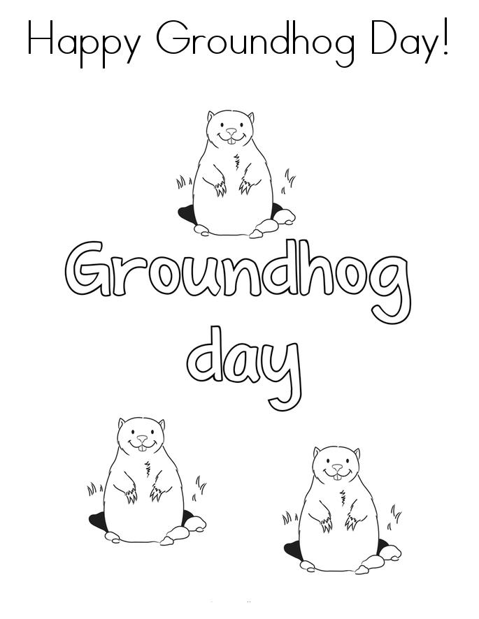 Free Printable Groundhog Day Coloring