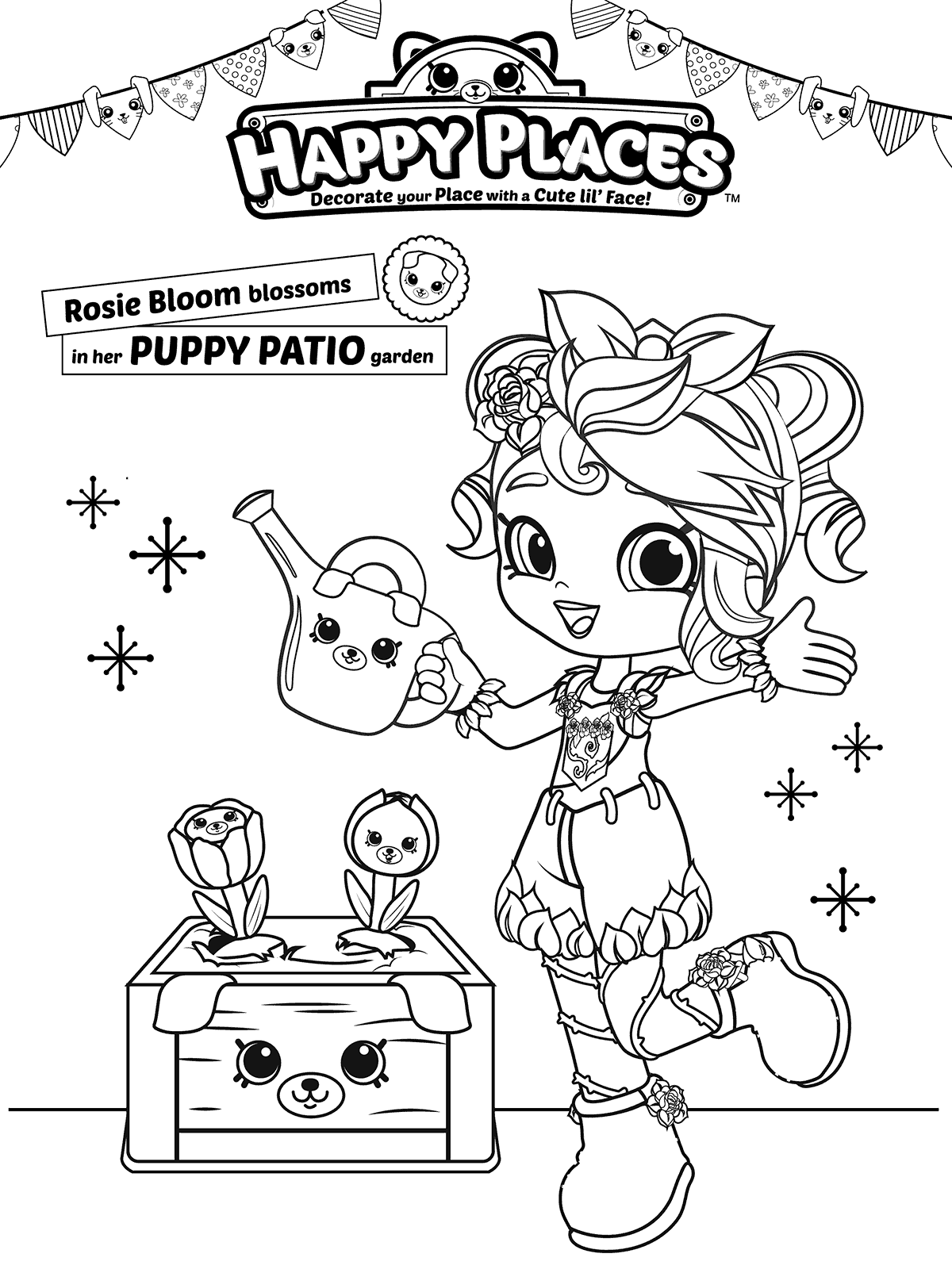 Happy Places Shopkins Happy Places coloring pages