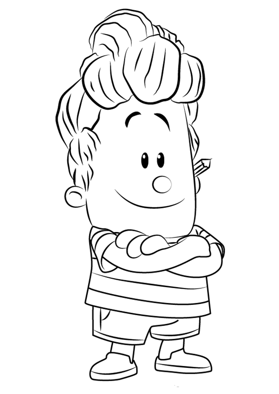 Harold Hutchins from Captain Underpants Coloring Page