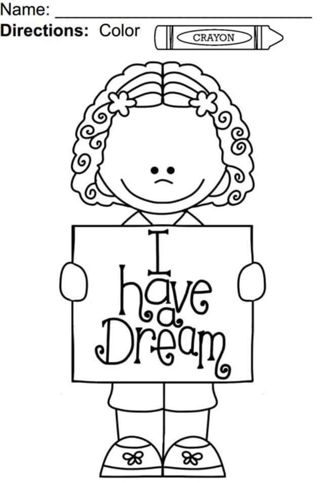 I Have A Dream Martin Luther King Jr Coloring Pages