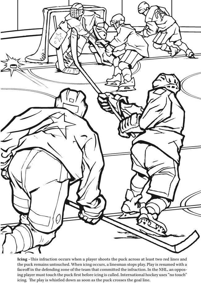 Ice hockey Winter Olympics Coloring Pages