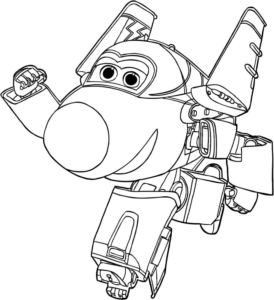 Jerome Super Wings Coloring Pages To Print