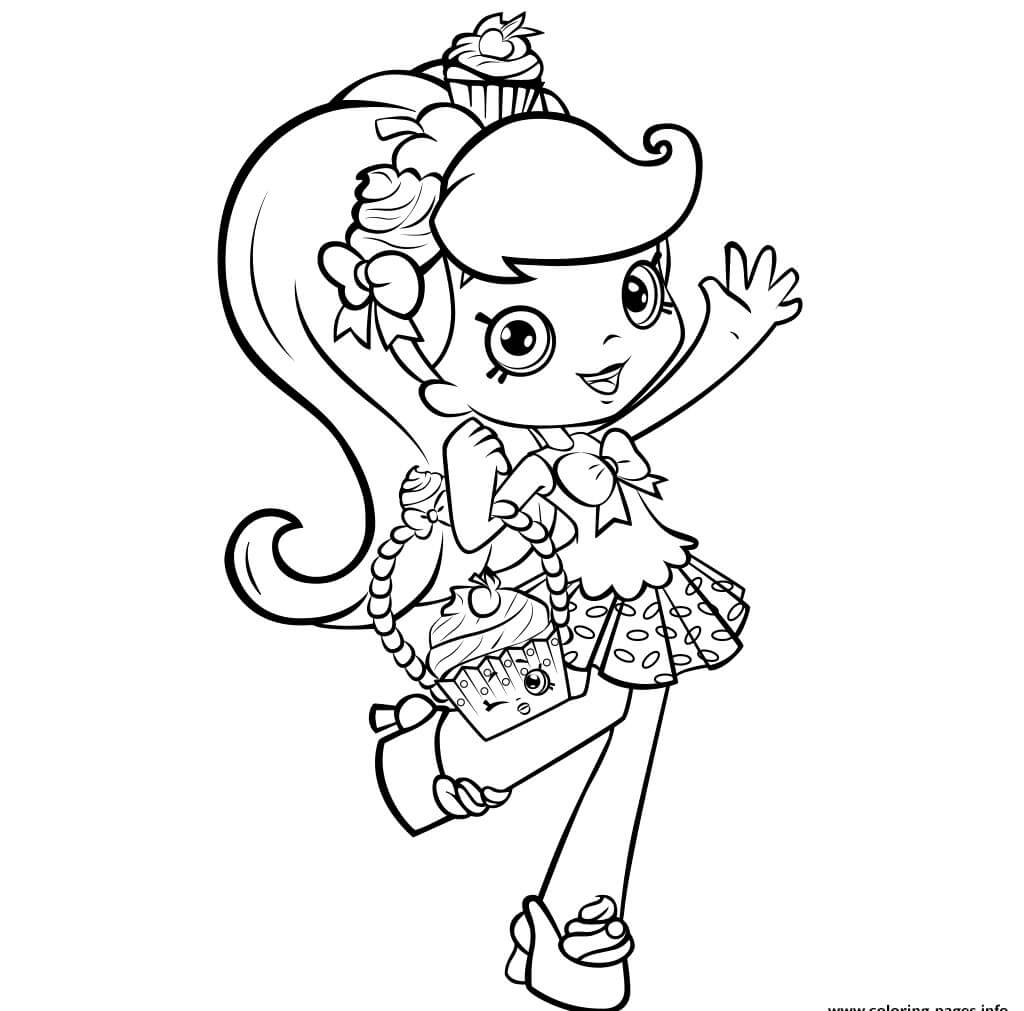 Jessicake Shopkins Shoppies Coloring page