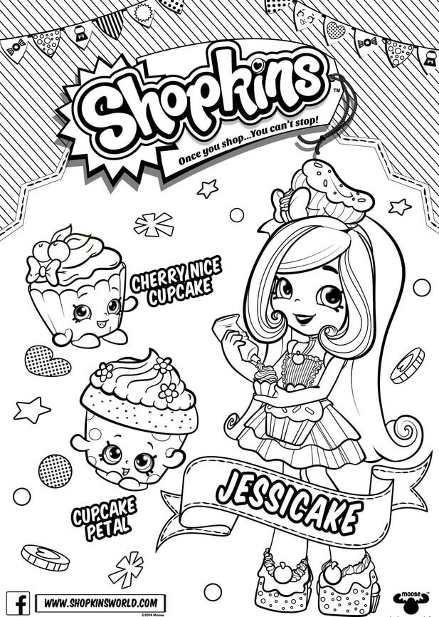 Printable Shopkins Shoppies Coloring