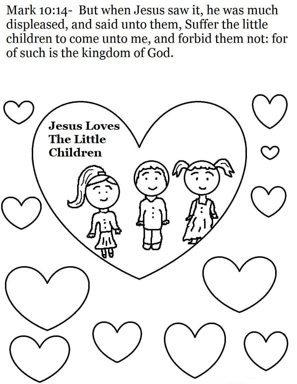 sunday school coloring pages printable - photo#7