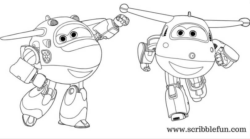 Jett And Mira Super Wings Coloring Pages