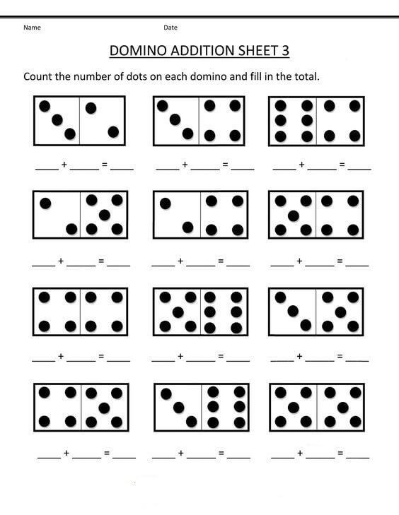 Kindergarten Addition Math Worksheets