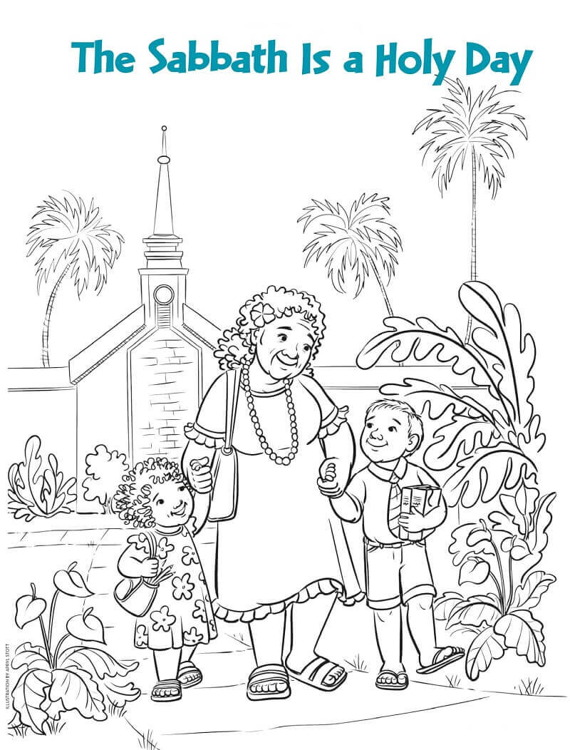 LDS Service coloring pages