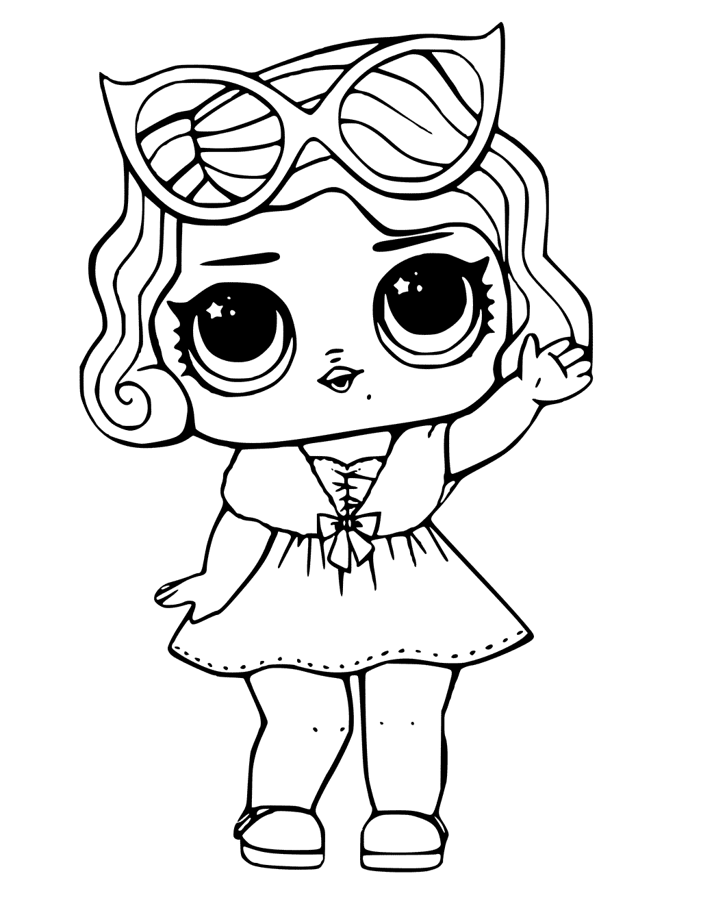 lol surprise doll coloring pages leading baby - Coloring The Pictures