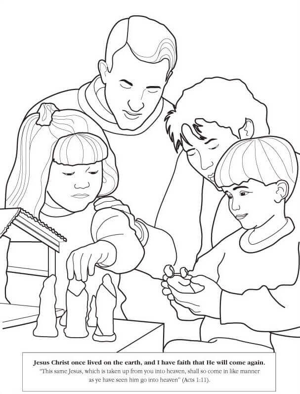Latter Day Saints Coloring Pages to print