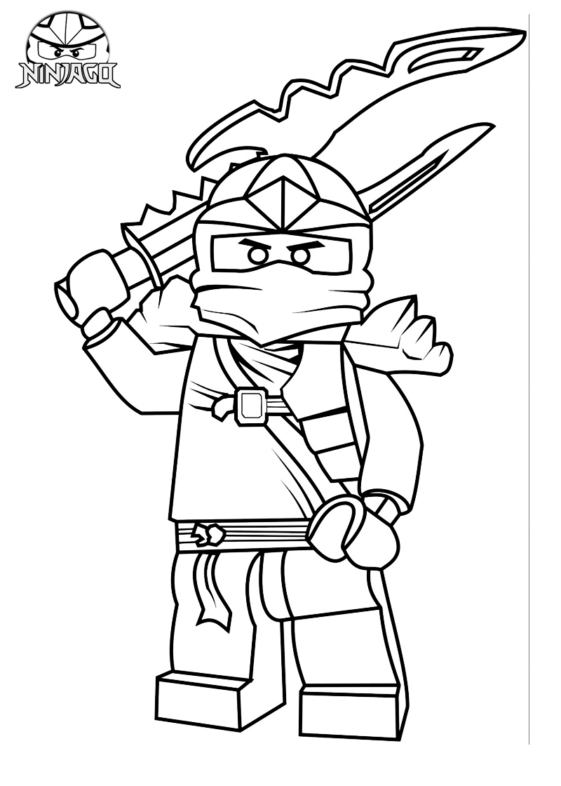 Lego ninjago ninja jay free coloring pages for Ninjago green ninja coloring pages