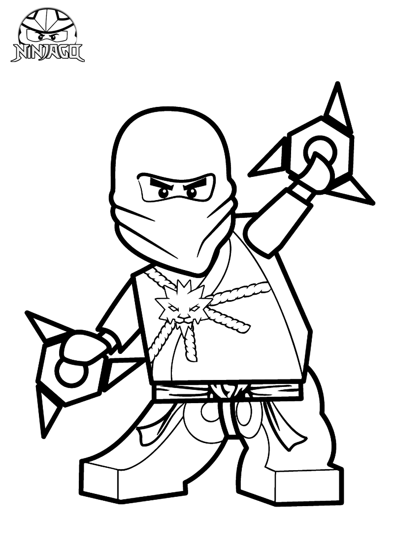 Lego Ninjago Coloring Pages Zane ZX