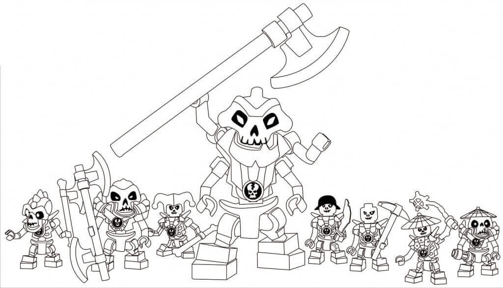 Lego Ninjago skeleton army Coloring Page