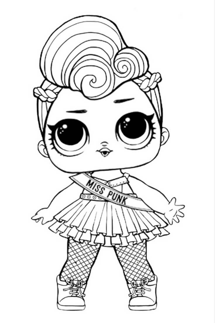 Lol Dolls Lux Sheets Coloring Pages