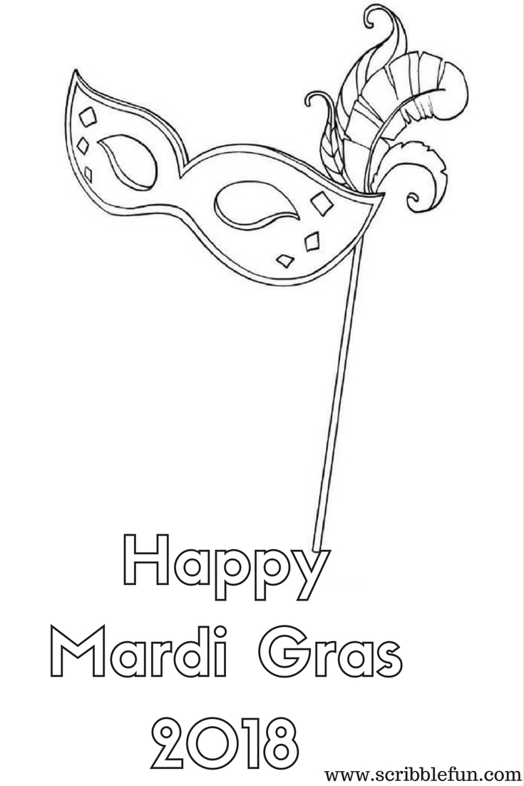 Mardi Gras 2018 Coloring Pages