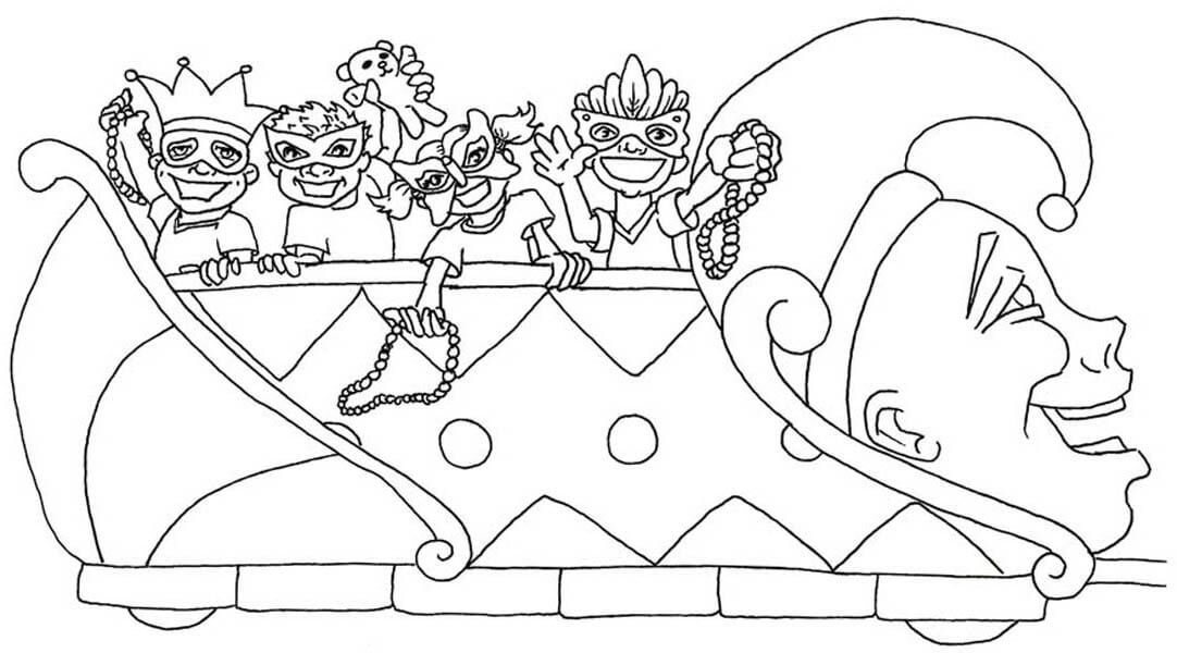 coloring pages mardi gras - photo#25