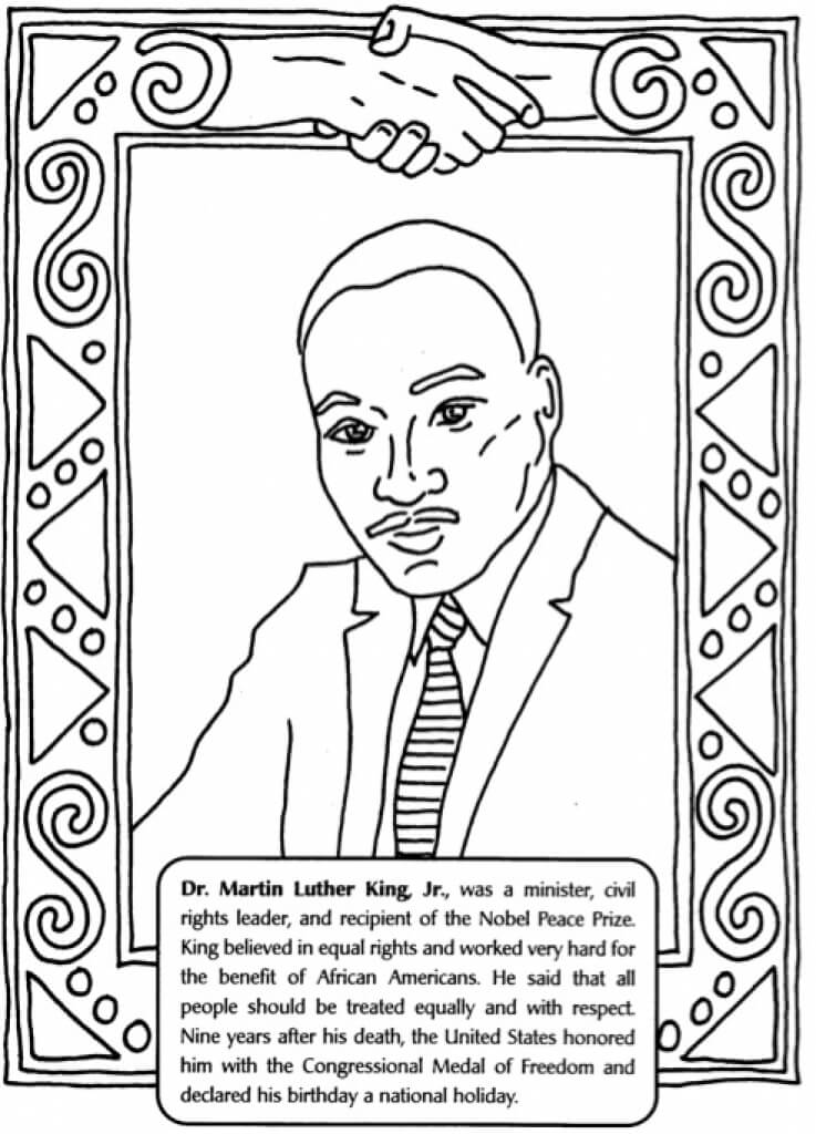 It is a photo of Accomplished Martin Luther King Coloring Sheets Printable