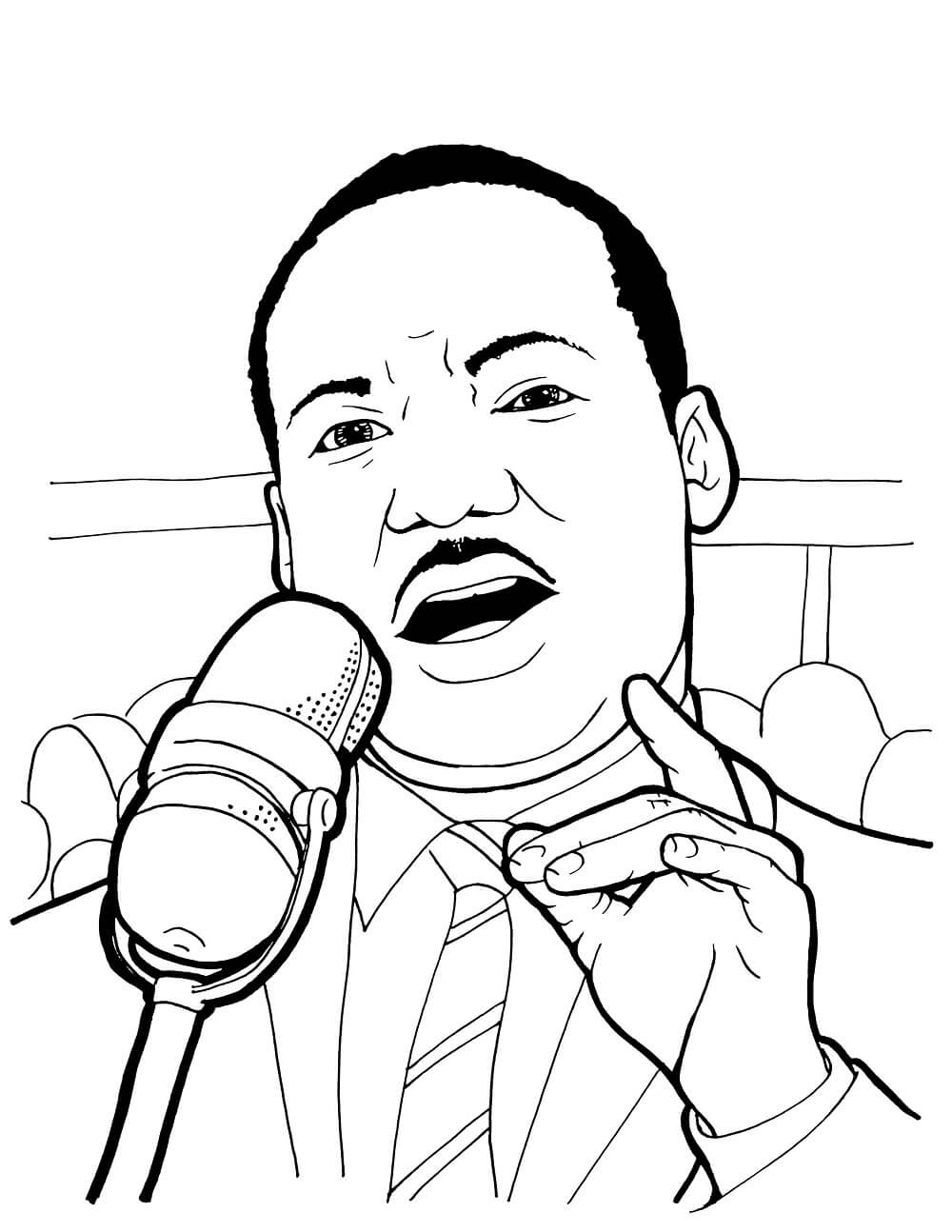 Free printable martin luther king jr day coloring pages for Martin luther coloring pages