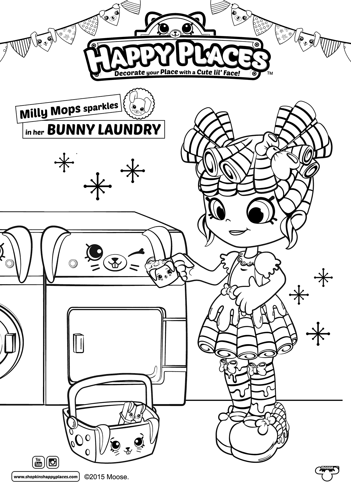 Milly Mops Shopkins Happy Places Coloring Page