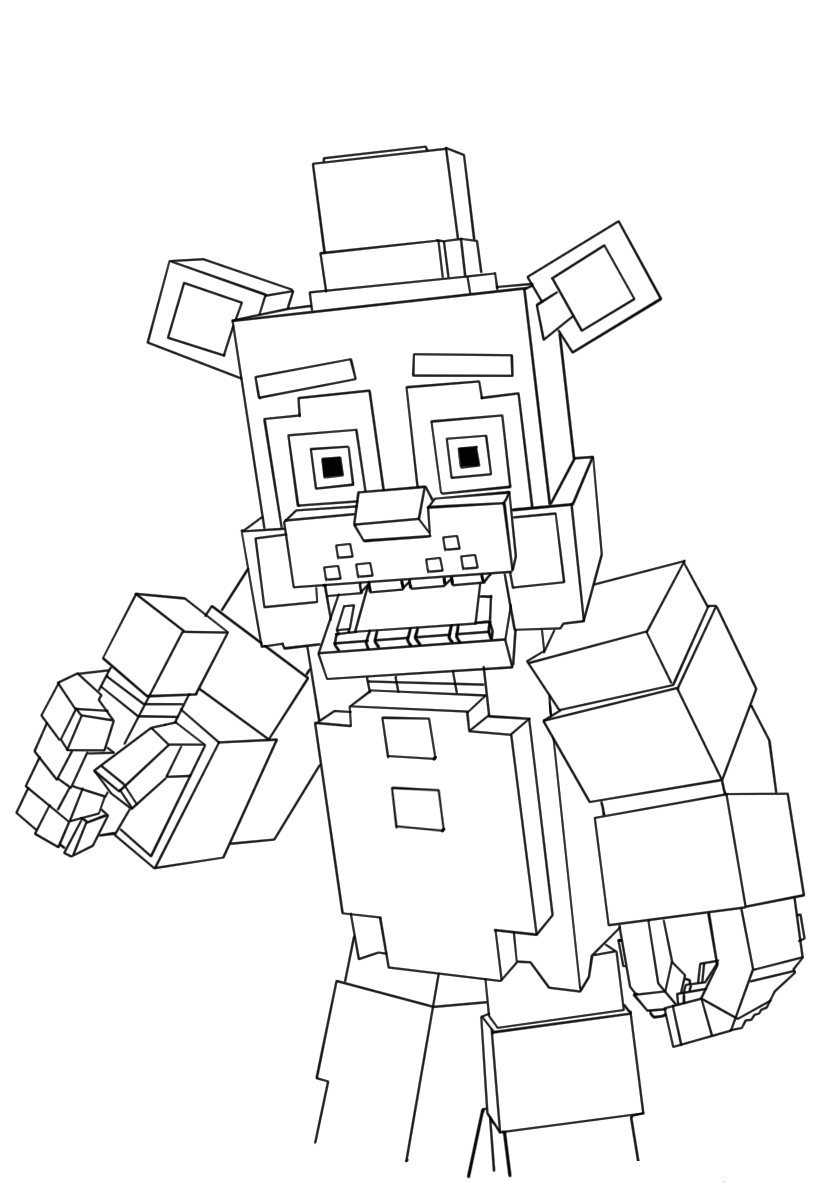 Minecraft Freddy Fnaf Coloring Pages