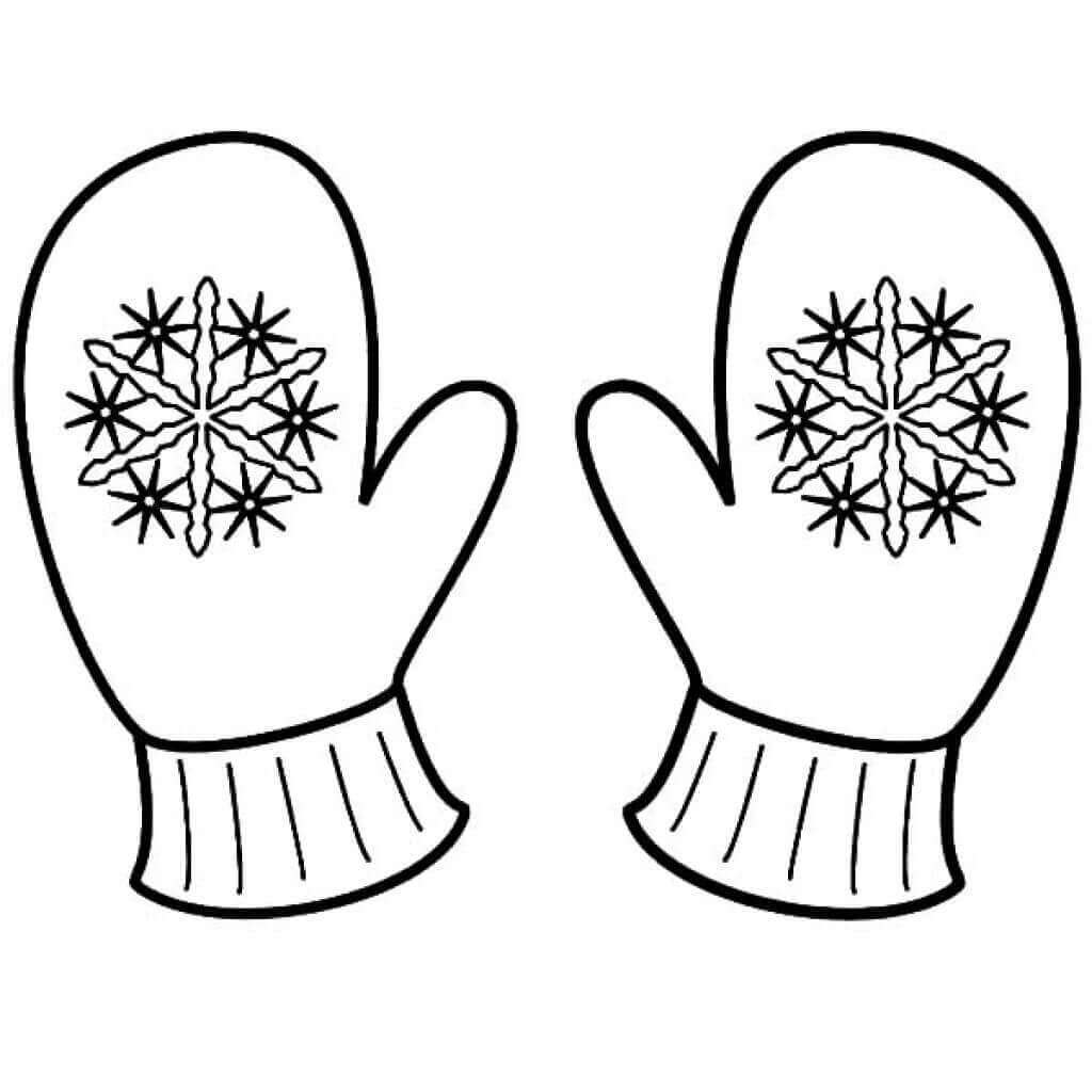 Mittens Winter Coloring Sheets