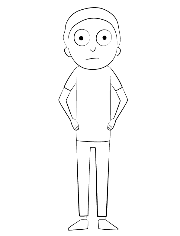 Morty from Rick and Morty Coloring Page