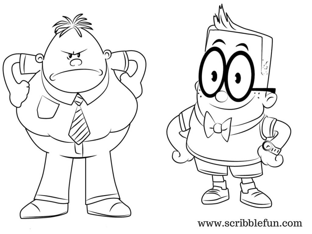 Mr Krupp and Melvin Captain Underpants Coloring Pages