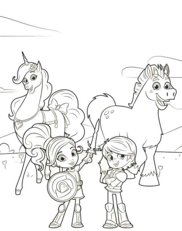 Free Printable Nella The Princess Knight Coloring Pages