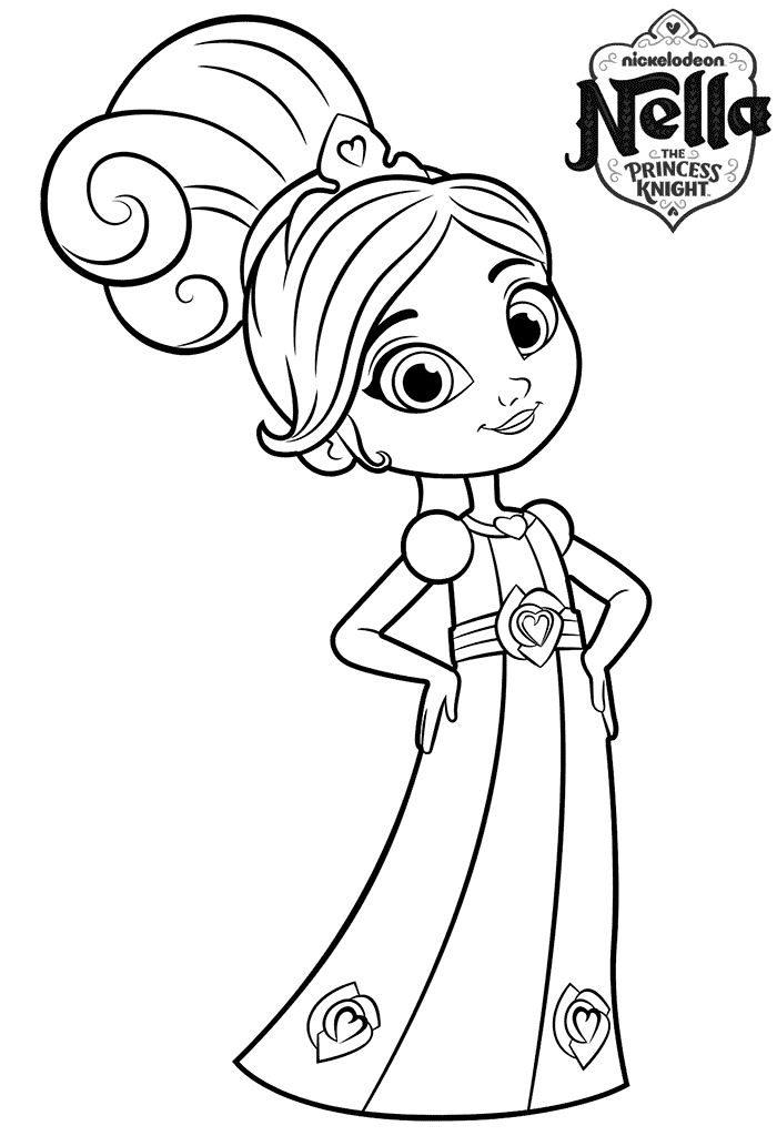 Nella Princess Knight Coloring Page