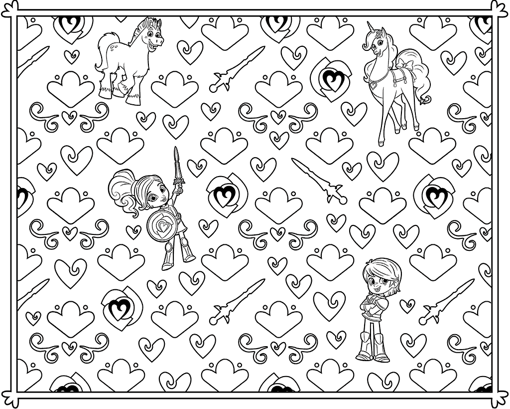 Nella the Princess Knight Coloring Page