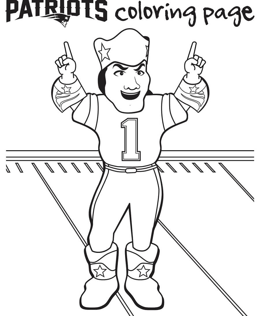 New England Patriots Coloring Pages Free Printable