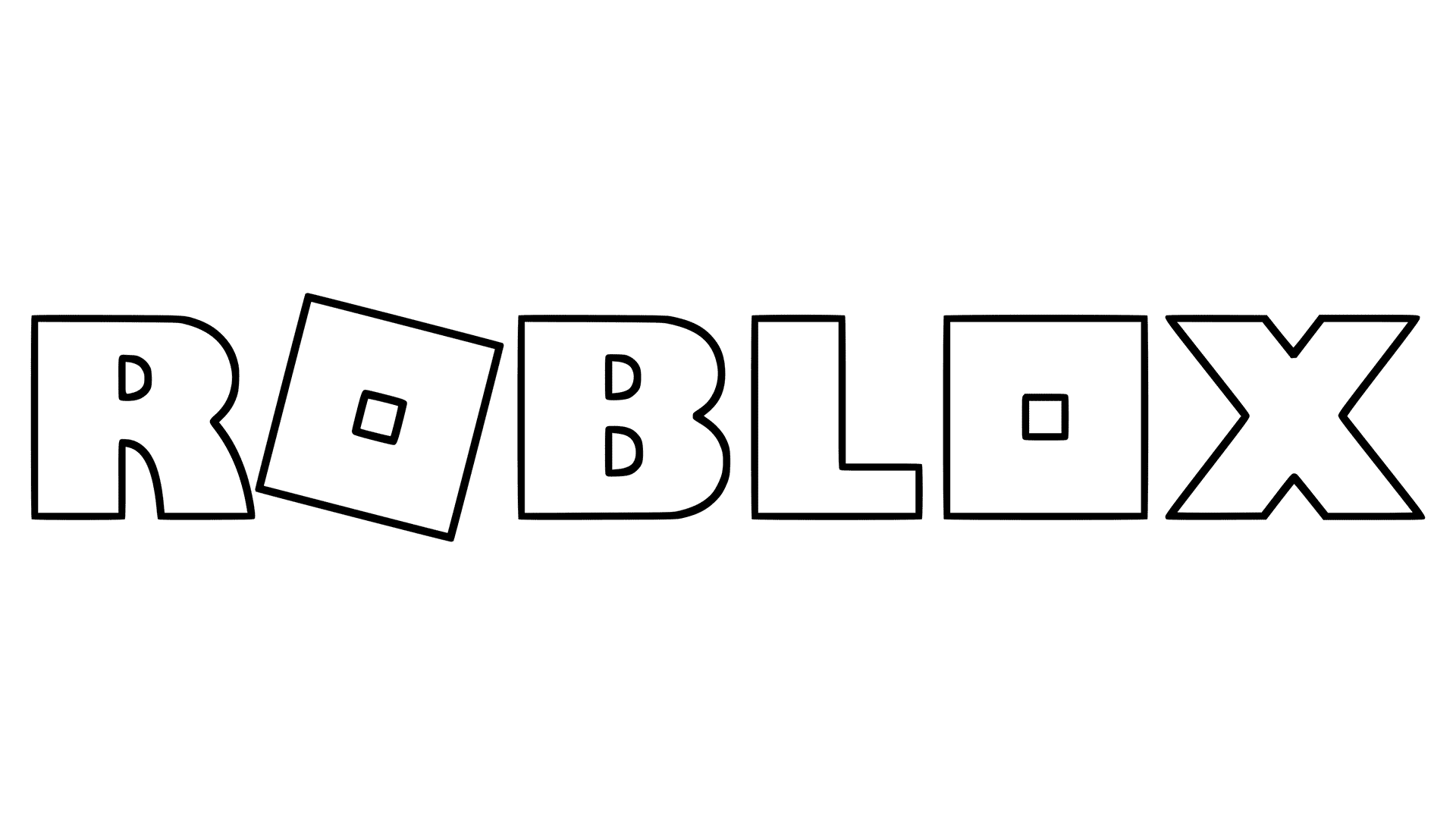 New Roblox Logo Generation V Coloring Pages