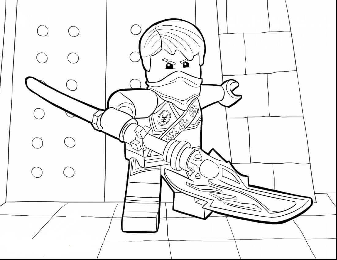 Ninjago Coloring Pages Jay