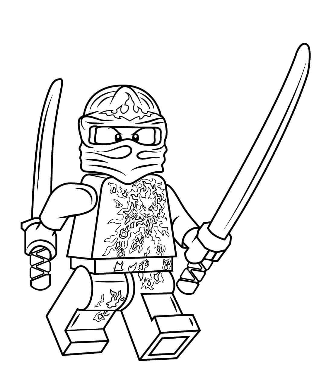 Ninjago Coloring Pages Kai