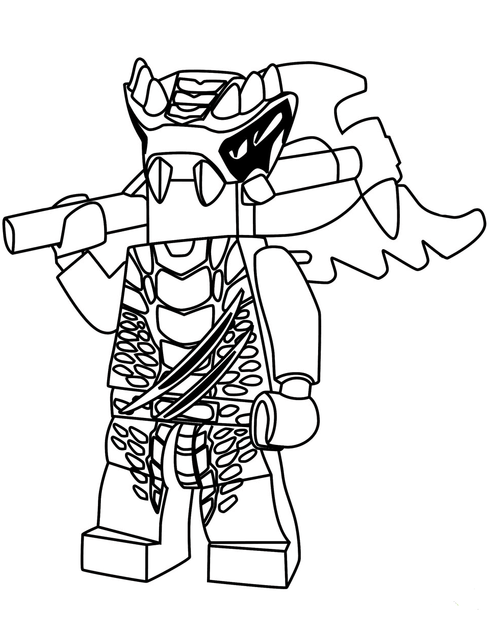 Ninjago Coloring Pages Lizaru